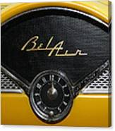 1955 Chevy Belair Clockface Canvas Print