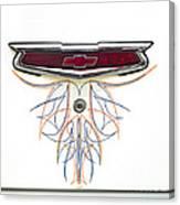 1955 Chevy Emblem Canvas Print