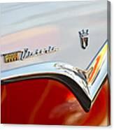 1955 Ford Fairlane Crown Victoria Emblem Canvas Print