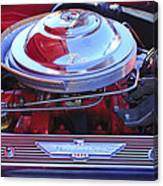 1955 Ford Thunderbird Engine Canvas Print