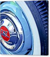 1955 Gmc Suburban Carrier Pickup Truck Wheel Emblem Canvas Print
