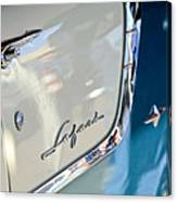 1955 Pontiac Safari Station Wagon Emblem Canvas Print