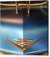 1956 Cadillac Eldorado Biarritz Convertible Hood Ornament And Emblem Canvas Print