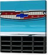 1956 Chevrolet Belair Nomad Grille Emblem Canvas Print