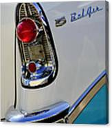 1956 Chevrolet Belair Taillight Emblem Canvas Print