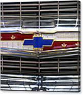 1956 Chevrolet Grill Emblem Canvas Print