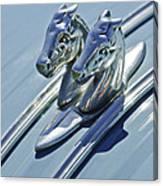 1956 Citroen 2cv Hood Ornament And Grille Emblem 3 Canvas Print