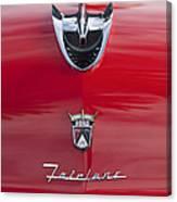 1956 Ford Fairlane Hood Ornament 7 Canvas Print