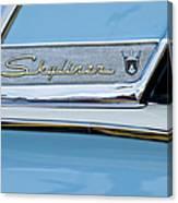 1956 Ford Fairlane Skyliner Emblem Canvas Print