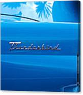 1956 Ford Thunderbird Taillight Emblem Canvas Print