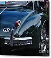 1956 Jaguar Xk 140 - Rear And Emblem Canvas Print