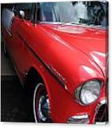 1956 Red And White Chevy Canvas Print