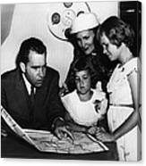 1956 Us Presidency, Nixon Family.  From Canvas Print