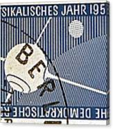 1957 - 1958 East German Sputnik Stamp Canvas Print
