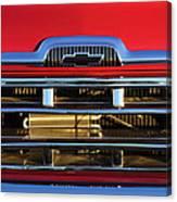 1957 Chevrolet Pickup Truck Grille Emblem Canvas Print