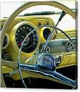 1957 Chevy Bel Air Dash Canvas Print
