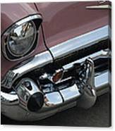 1957 Coral Chevy Bel Air Canvas Print