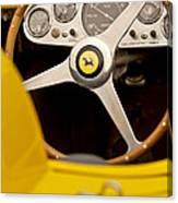1957 Ferrari 500 Trc Scaglietti Spyder Steering Wheel Canvas Print