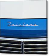 1957 Ford Fairlane Grille Emblem Canvas Print