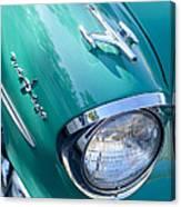 1957 Oldsmobile 98 Starfire Convertible Fender Spear Canvas Print