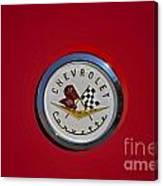 1957 Red Corvette Emblem Canvas Print