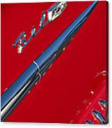 1958 Chevrolet Belair Emblem Canvas Print
