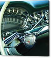 1958 Oldsmobile 98 Steering Wheel Canvas Print