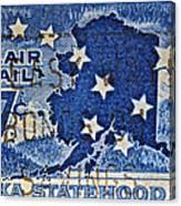 1959 Alaska Statehood Stamp Canvas Print