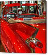 1959 Cadillac At The Pumps Canvas Print