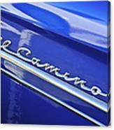 1959 Chevrolet El Camino Emblem Canvas Print