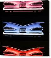 1959 Chevrolet Eyebrow Tail Lights Canvas Print
