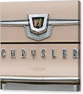 1959 Chrysler New Yorker Emblem Canvas Print