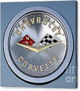 1959 Corvette Emblem Canvas Print