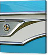 1959 Edsel Corvair Side Emblem Canvas Print