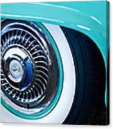 1959 Ford Ranchero Wheel Emblem Canvas Print