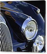 1959 Jaguar S Roadster Headlights Canvas Print