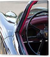 1959 Jaguar S Roadster Steering Wheel 2 Canvas Print