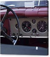 1959 Jaguar S Roadster Steering Wheel Canvas Print