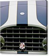 1960 Ac Ace Roadster Grille Emblem Canvas Print