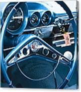 1960 Chevrolet Impala Steering Wheel Canvas Print