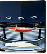 1960 Dodge Grille Emblem Canvas Print