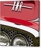 1960 Plymouth Xnr Ghia Roadster Grille Emblem Canvas Print