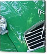 1961 Citroen 2cv Landaulet Hood Emblem Canvas Print