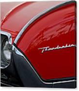 1961 Ford Thunderbird Headlight Emblem Canvas Print