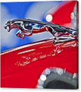 1961 Jaguar Kougar Hood Ornament 2 Canvas Print