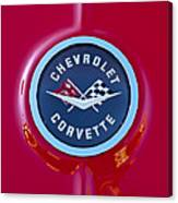 1962 Chevrolet Corvette Emblem Canvas Print