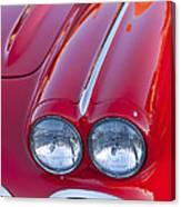 1962 Chevrolet Corvette Headlight Canvas Print