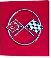 1962 Chevrolet Corvette Hood Emblem 2 Canvas Print