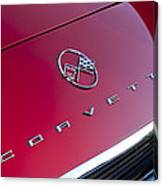 1962 Chevrolet Corvette Hood Emblem 3 Canvas Print