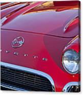 1962 Chevrolet Corvette Hood Canvas Print